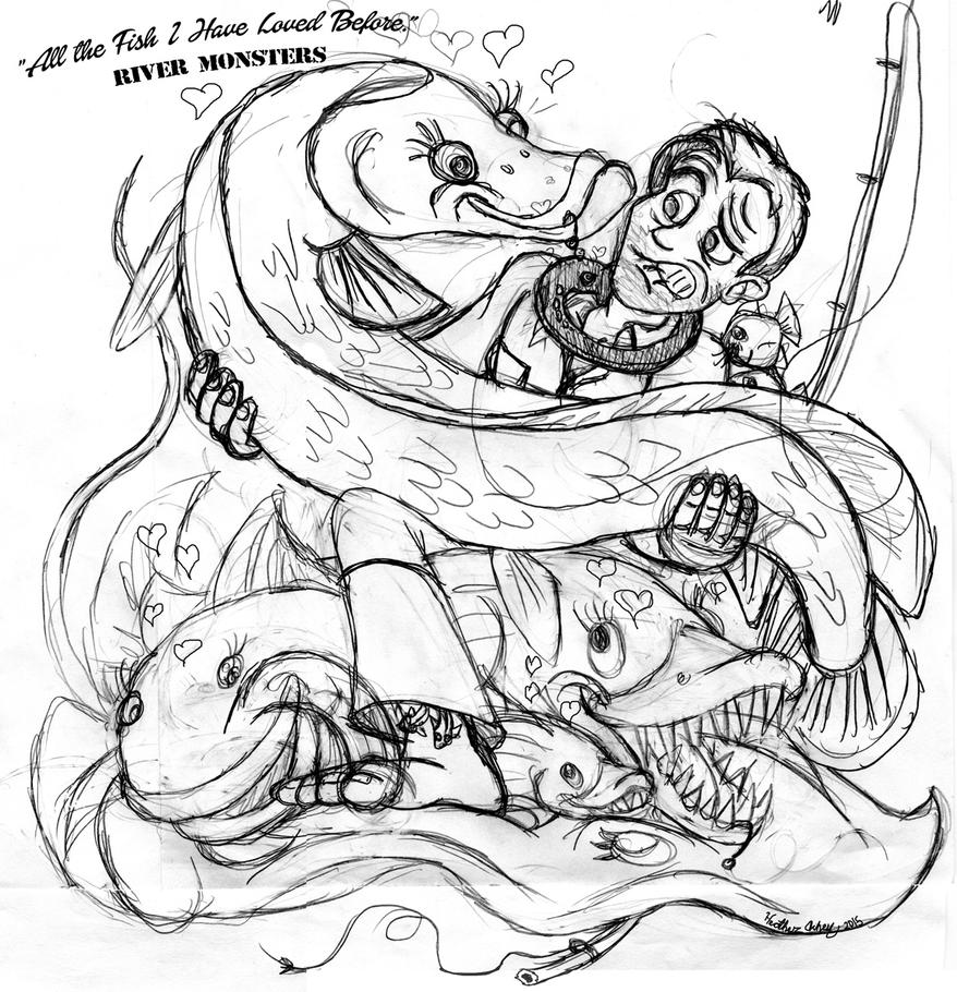 River Monsters FanArt WIP by Tibby101