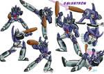 Galvatron Fight Poses