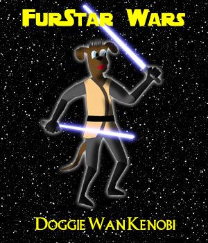 FurStar Wars-Doggie Wan Kenobi by Shaddar-Bear