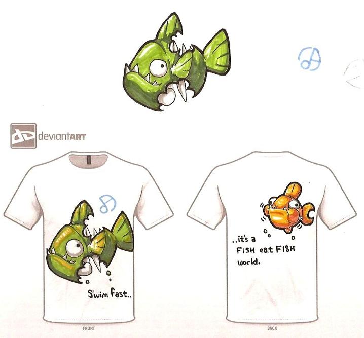 Half-eaten Piranha by tk36477