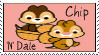 Chip 'N' Dale Stamp by Courageous-Lion