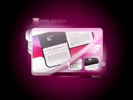Pink Design Web Site by caglarsasmaz
