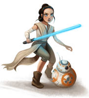 Rey from Star Wars fanart :) by charlietramp