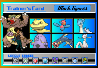 A Home Made Pokemon Trainer Card by BlackTigress-TLB