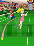 Mario and Peach Tennis