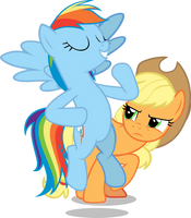 Rainbow Dash is the lead by FamousMari5