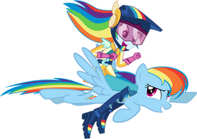 Rainbow Dash riding Rainbow Dash by FamousMari5