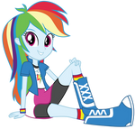 Rainbow Dash sitting