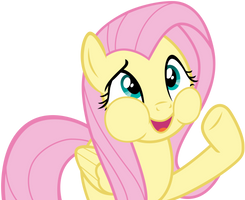 Fluttershy talking with mouth by FamousMari5