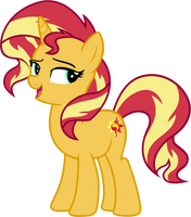 Sunset Shimmer Pony by FamousMari5