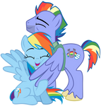 Rainbow Dash and her Father
