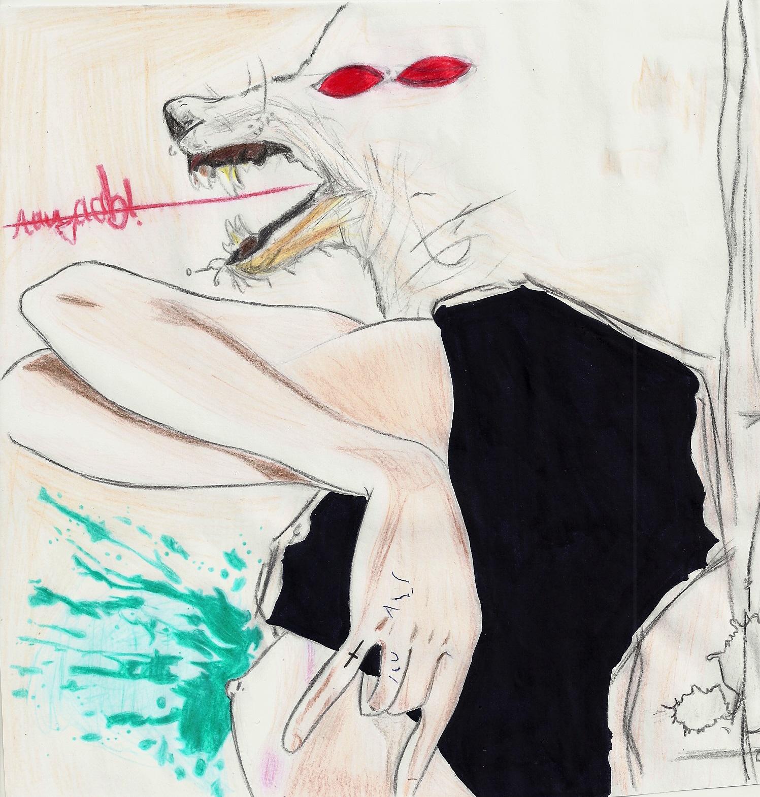 pregnant wolf by Jasperhalegirl