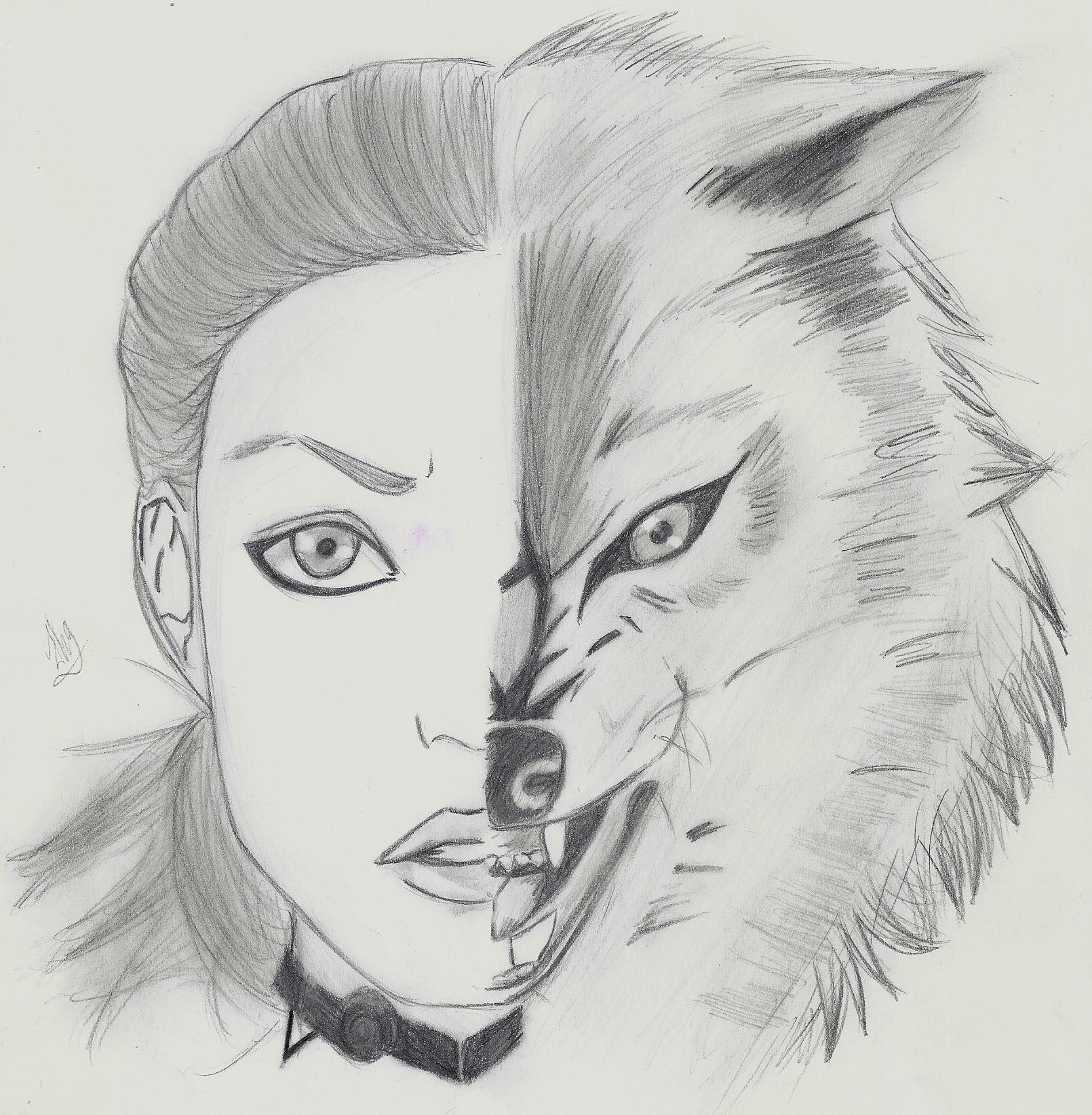 Werwolf Gezeichnet