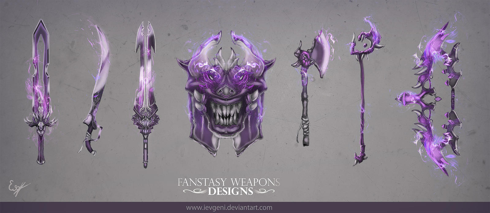 Fantasy weapons designs by iEvgeni on DeviantArt
