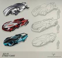 Sci-fi street cars by iEvgeni