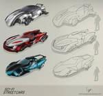 Sci-fi street cars