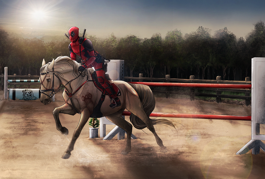 Superhero Landing by Aliyska