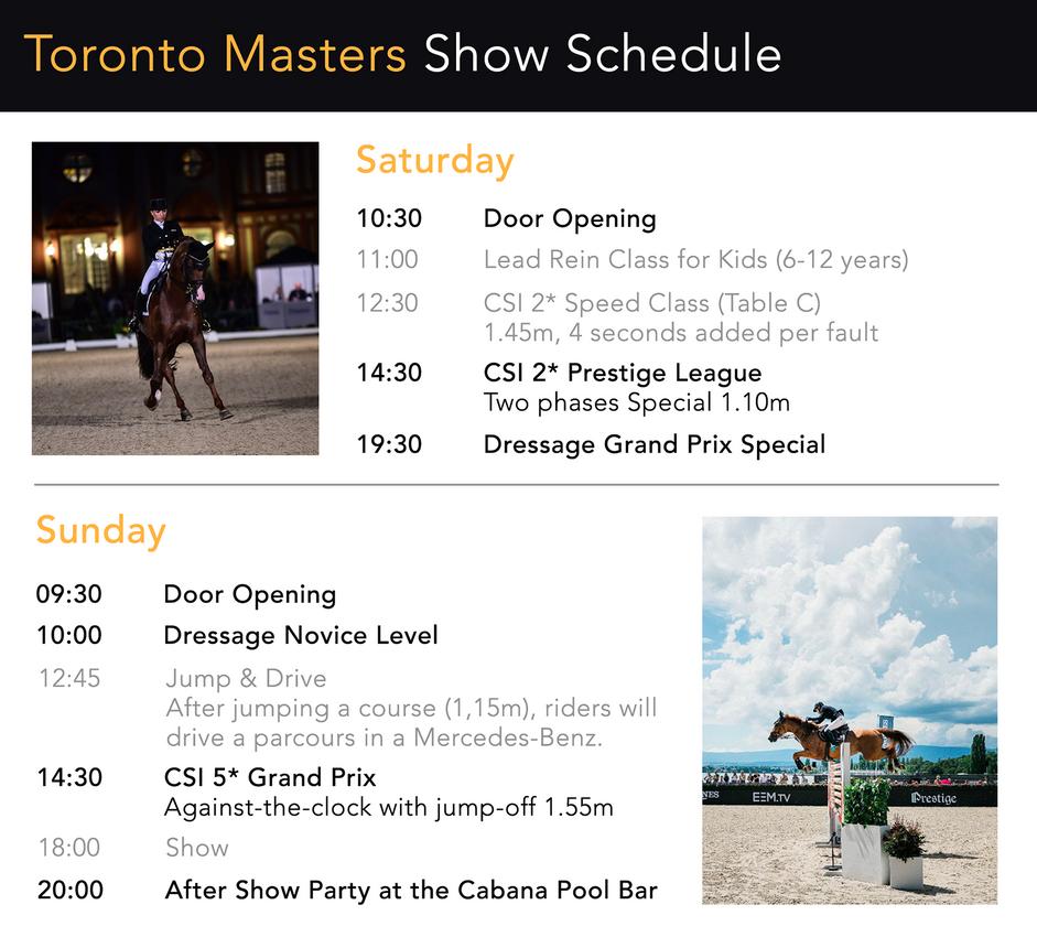 Show Schedule by Aliyska