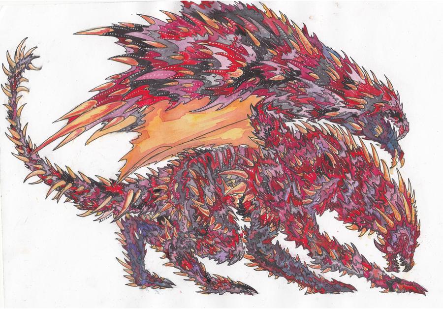 Royal fire dragon by Avokad