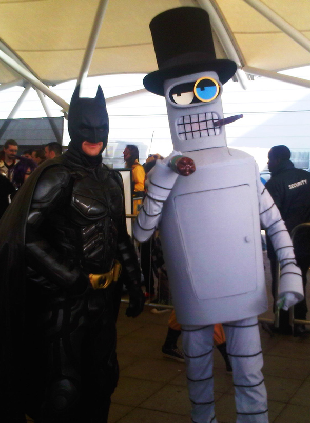 Batman and Gentleman Bender, ComicCon 2013, May by Immortal-Inside