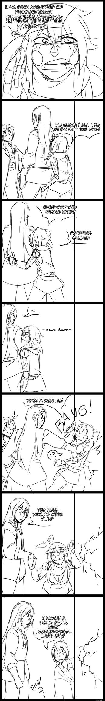 Pinokuni vs. Beast by PockyBloo