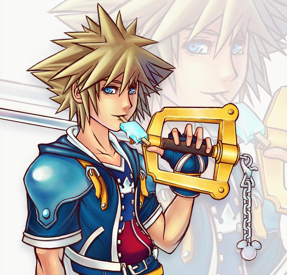 Sora Kingdom Hearts Lineart : Kingdom hearts iii sora by benji d on deviantart