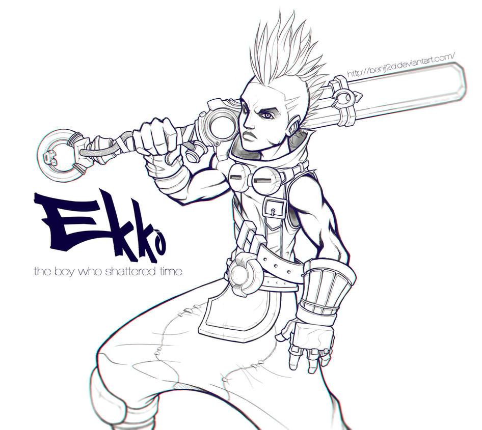 Ekko WIP by BenJi2D