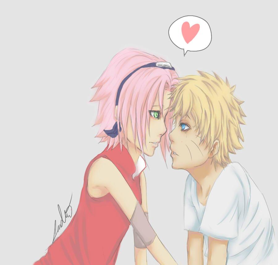 Naruto and Sakura : LOVE by Pha-kyuuu on DeviantArt