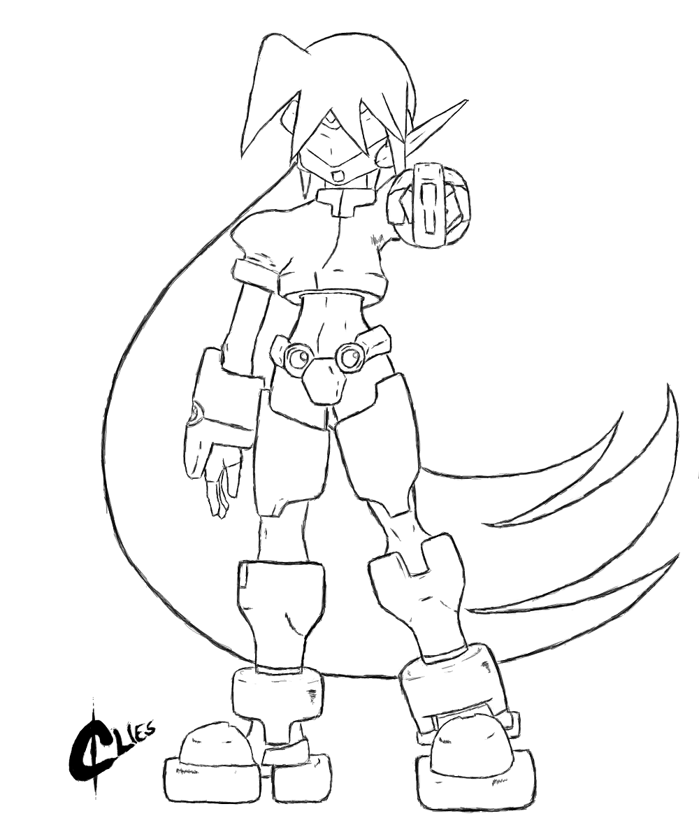 Model Z Lineart by GreenClies