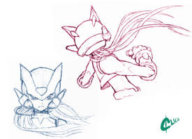 Some Zero sketches by GreenClies
