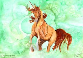 The Golden Unicorn by wolfmoonie