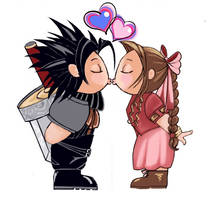 zackxaerith valentine chibis by mytiko-chan-is-back