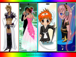 anime bookmarks by mytiko-chan-is-back