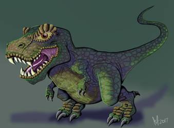 T Rex by Cleoam