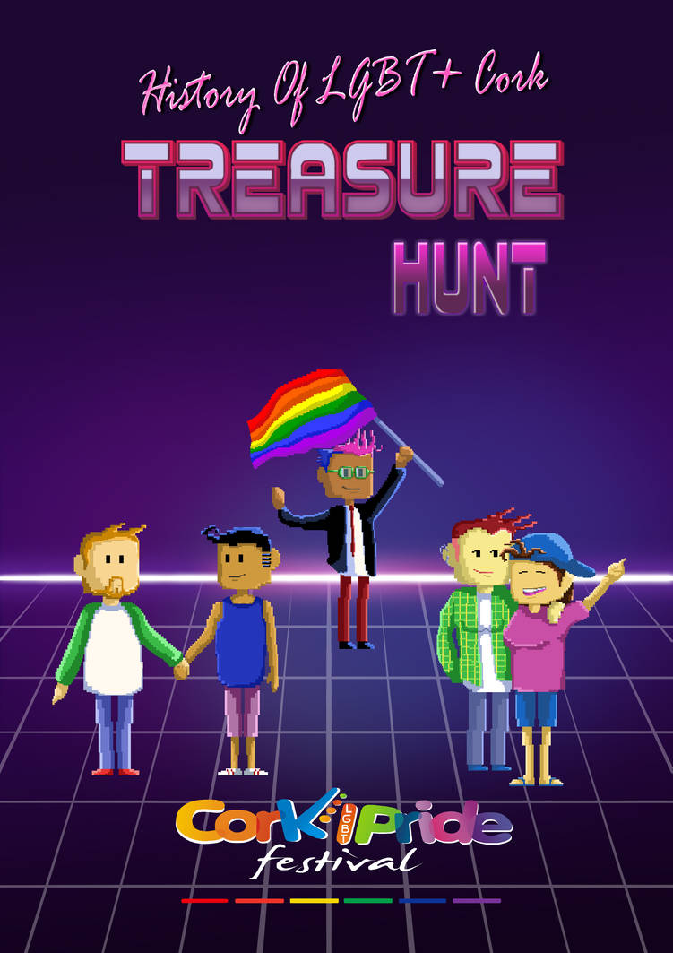 Treasure Hunt Poster for Cork Pride by Cleoam