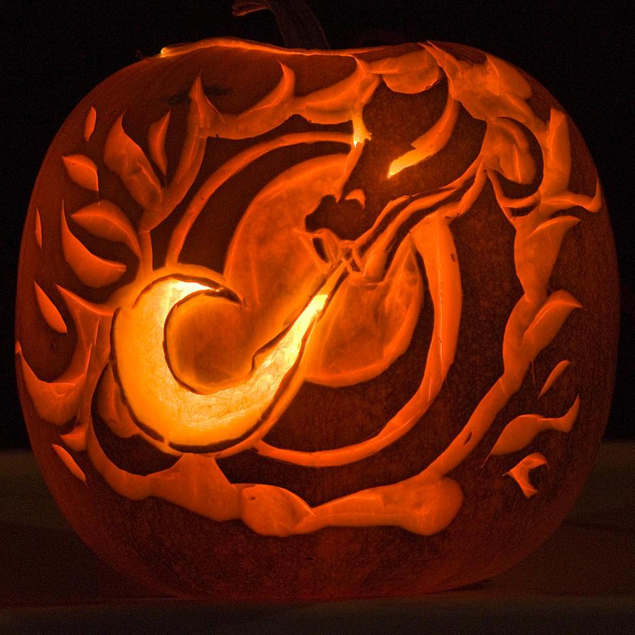 Msum dragon pumpkin by crasio on deviantart