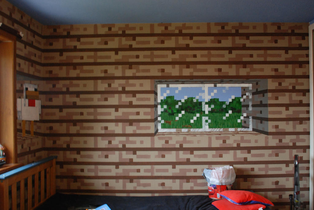 Minecraft Bedroom, Wall 1 by PuckleTimmer on DeviantArt