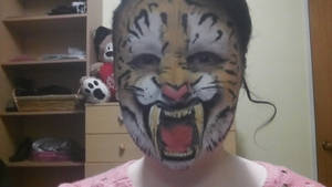 Saber tooth tiger :) by Blueberrystarbubbles