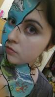 Studio Ghibli facepaint by Blueberrystarbubbles