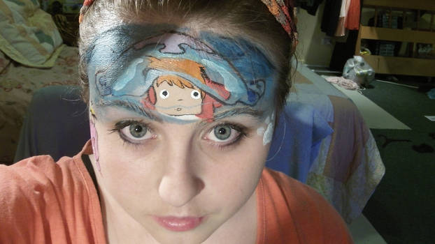 Ponyo Face paint :) by Blueberrystarbubbles