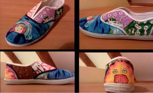 Studio ghibli shoe by Blueberrystarbubbles