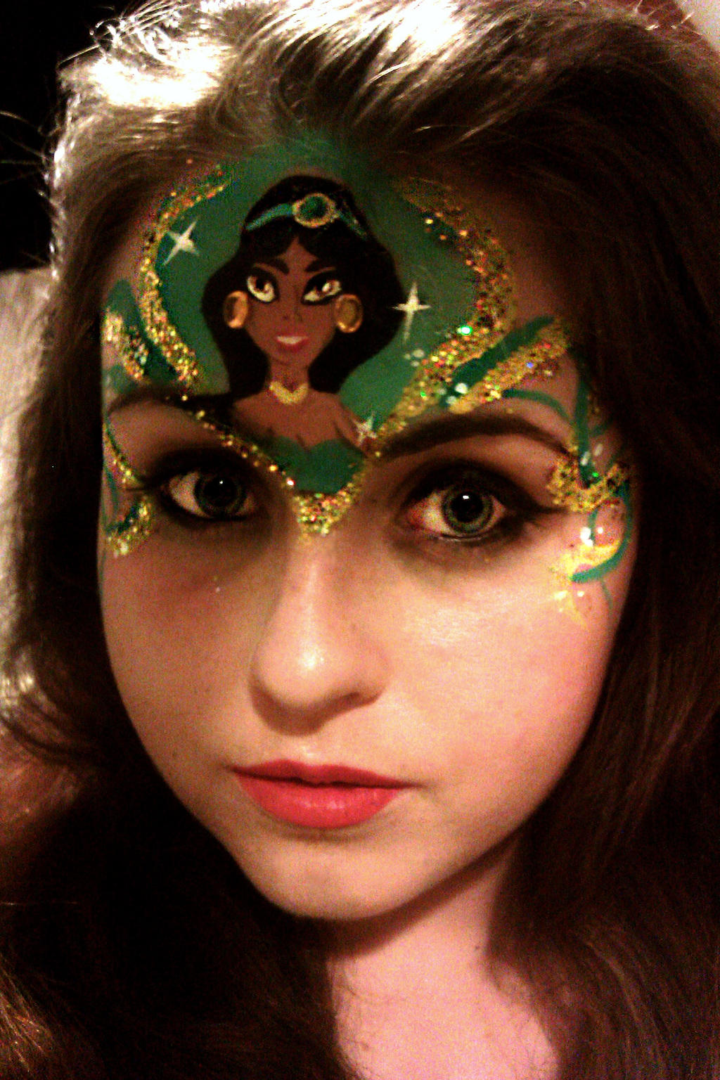 Princess Jasmine Facepaint By Blueberrystarbubbles