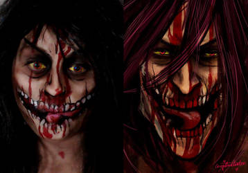 Attack on titan makeup! by Blueberrystarbubbles