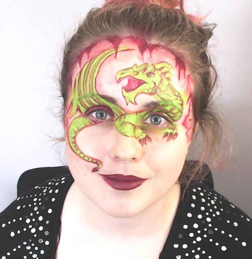 Dragon Facepaint by Blueberrystarbubbles