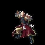 Tien Shinhan - Resurrection 'F' render [FighterZ]