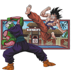 Goku vs Piccolo render [Budokai] by maxiuchiha22