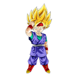 Goku Jr. SSJ render [Dokkan Battle] by maxiuchiha22