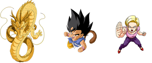 Goku and Android 18 - GT render [Dokkan Battle] by maxiuchiha22