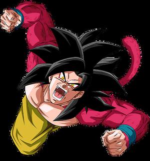 Goku ssj4 render 5 [Dokkan Battle]