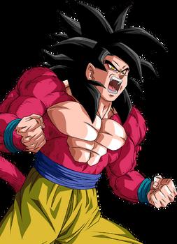 Goku ssj4 render 6 [Dokkan Battle]